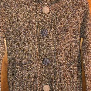 ZARA- stitched sweater-short mid torso length sz s